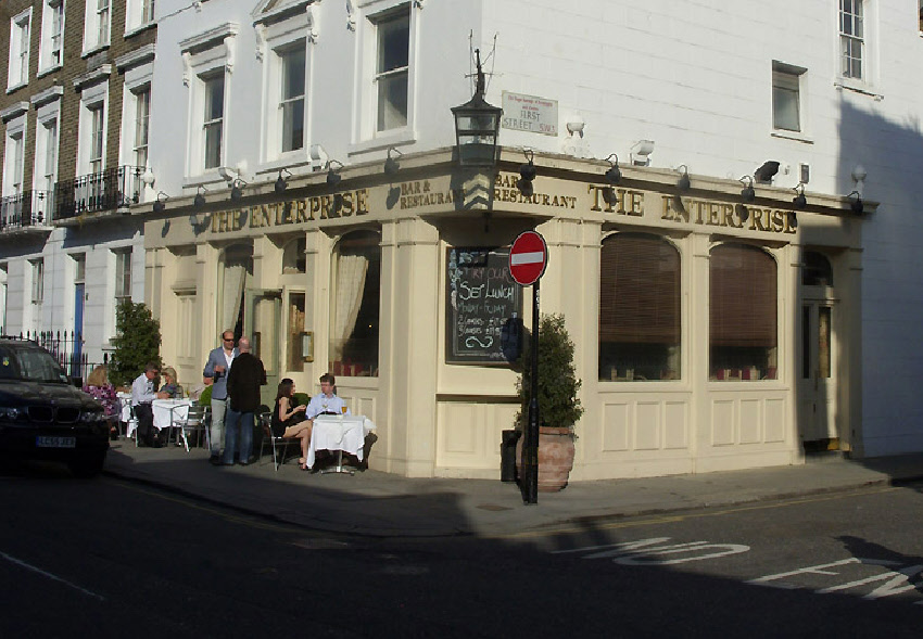 The Enterprise pub on London's Walton Street