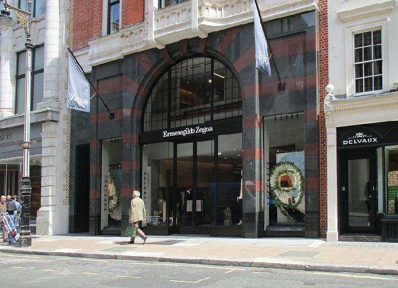 Ermenegildo Zegna menswear shop on London's Bond Street