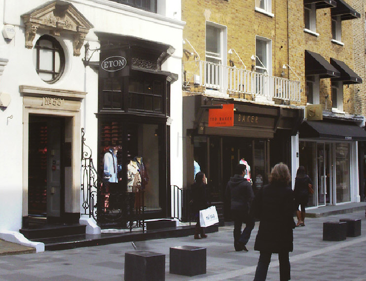 Eton Shirts shop on South Molton Street in London's Mayfair