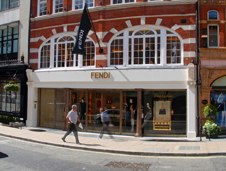Fendi handbags and accessories shop on London's Bond Street