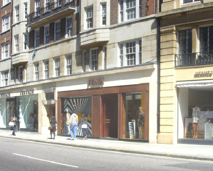 Fendi shop in London's Knightsbridge