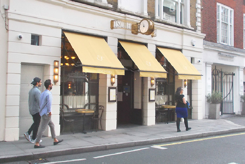 Fischers Viennese-style cafe in London's Marylebone
