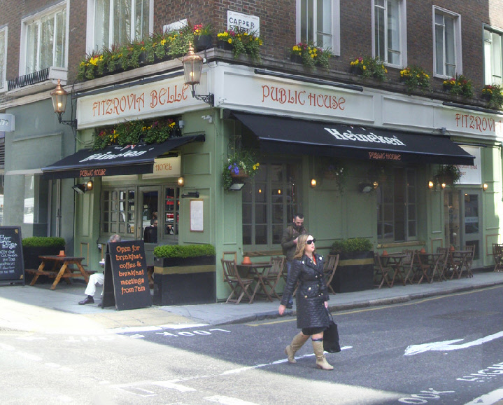Fitzrovia Belle pub and hotel in London's Fitzrovia