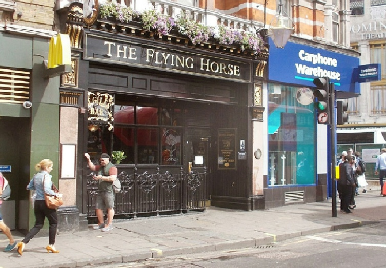The Flying Horse pub on Oxford Street in London