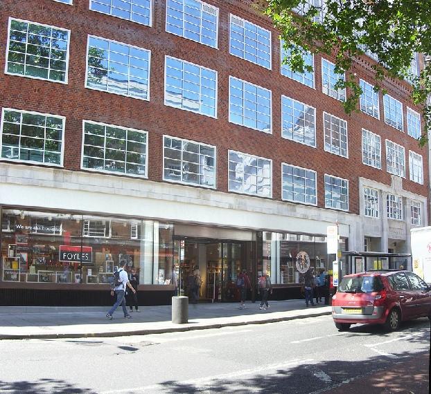 Foyles Bookshop on London's Charing Cross Road