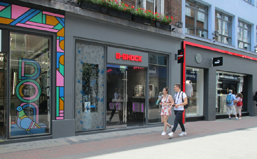 G-Shock watches shop on London's Carnaby Street