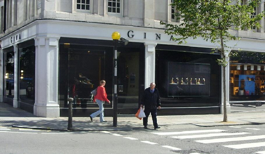 Gina shoe shop in London's Knightsbridge