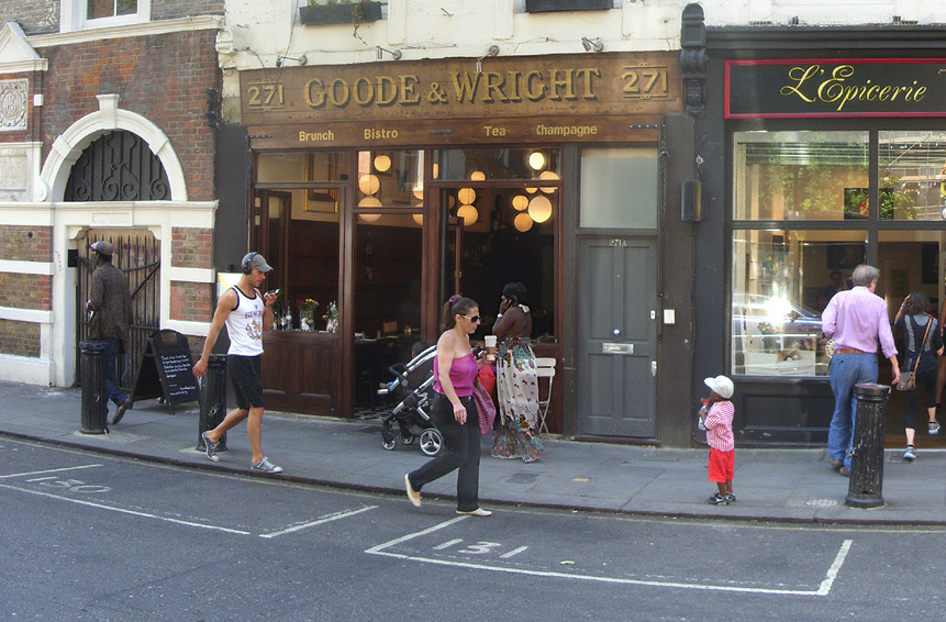 Goode and Wright diner in London's Portobello