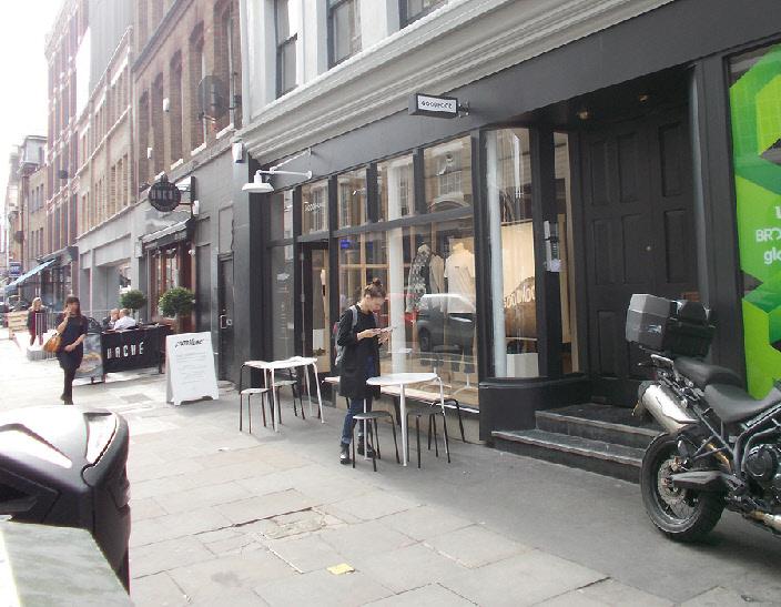 Goodhood fashion shop in London's Shoreditch