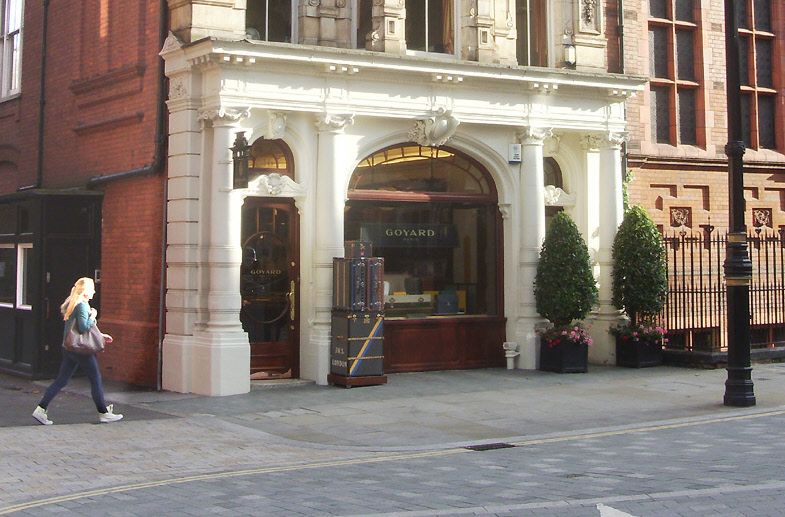 Goyard luggage and trunks shop in London's Mayfair