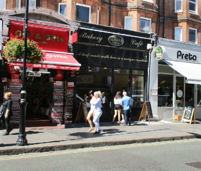 Granier bakery and cafe on Queensway in London's Bayswater