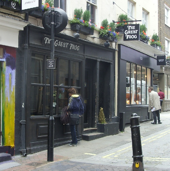 The Great Frog jewellery shop in London's Carnaby