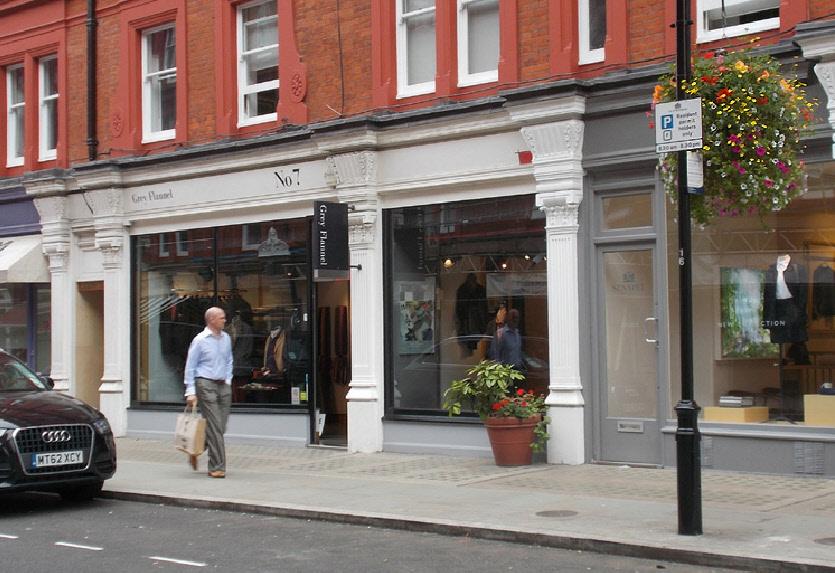 Grey Flannel menswear shop in Marylebone