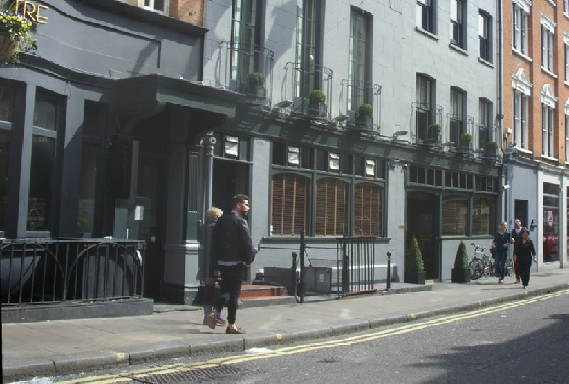 The Groucho Club in London's Soho