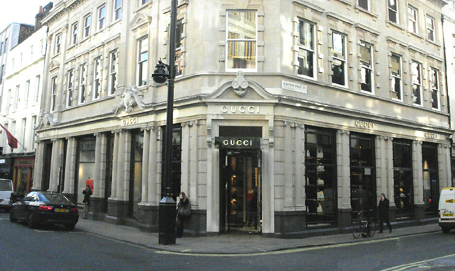 Gucci shop on Old Bond Street in London's Mayfair