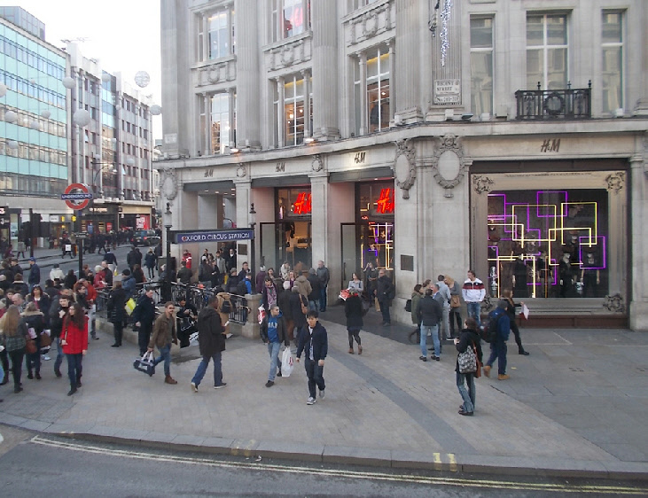 H+M store at Oxford Circus in London