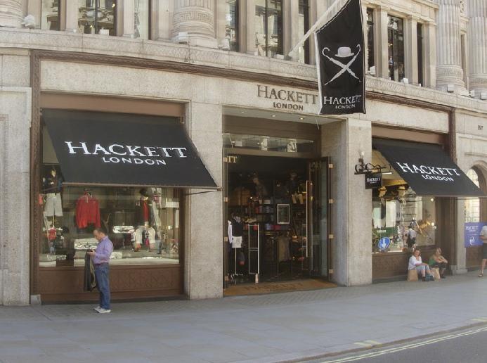 Hackett menswear shop on London's Regent Street