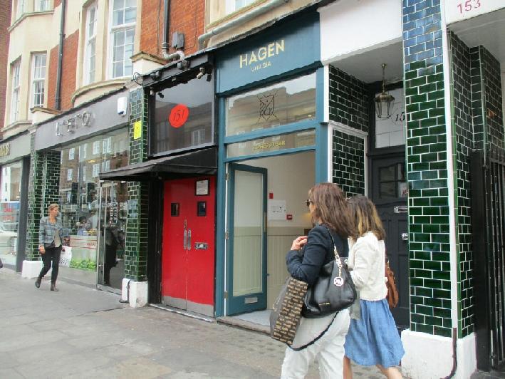Hagen espresso bar on Chelsea King's Road
