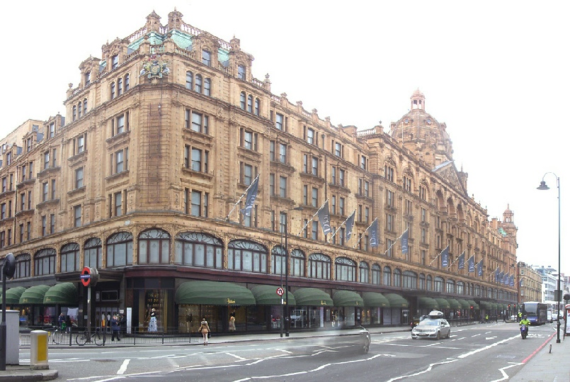 Harrods department store in London's Knightsbridge
