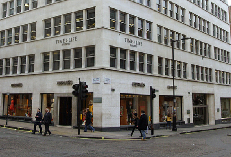 Hermes store on New Bond Street