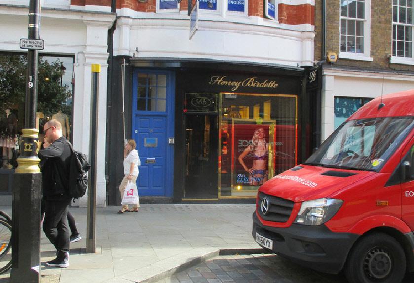 Honey Birdette lingerie shop in London's Covent Garden