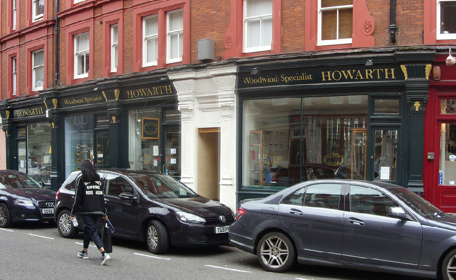 The Howarth woodwind shop in London's Marylebone