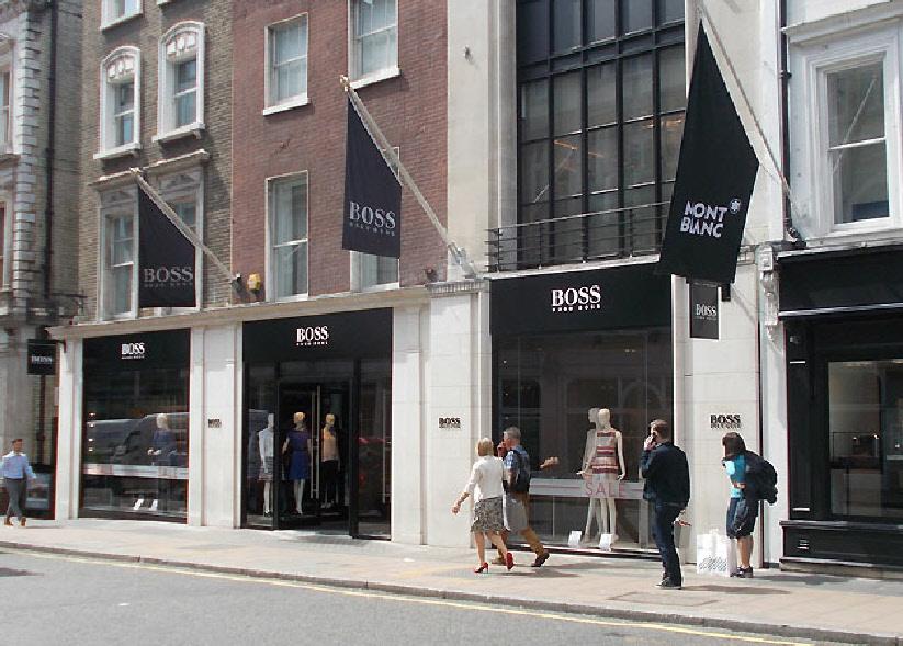 Hugo Boss clothing store in London's Mayfair
