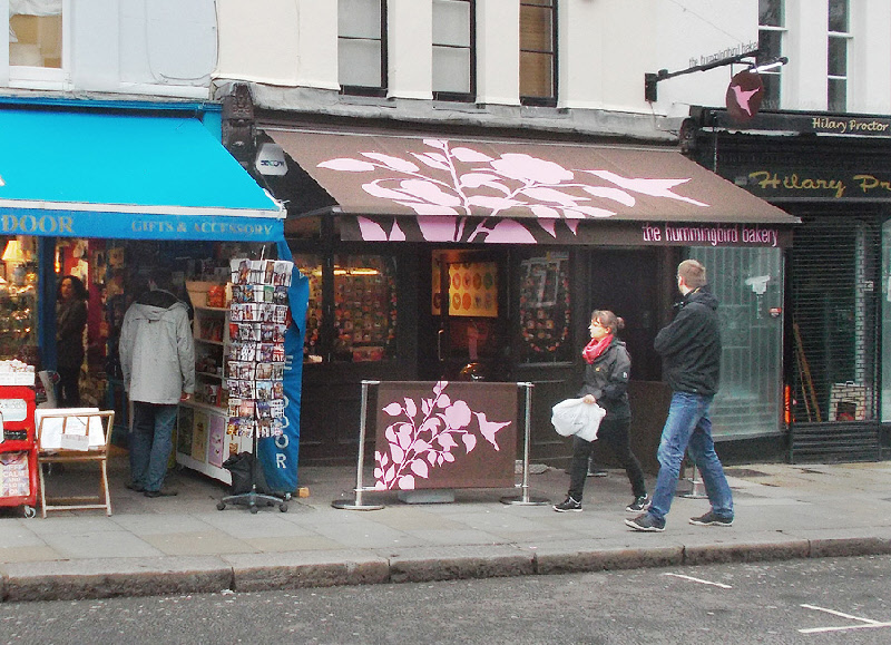 The Hummingbird bakery on London's Portobello Road.