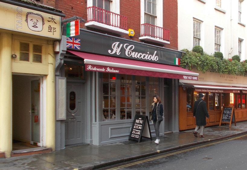 Il Cucciolo Italian restaurant in London's Soho
