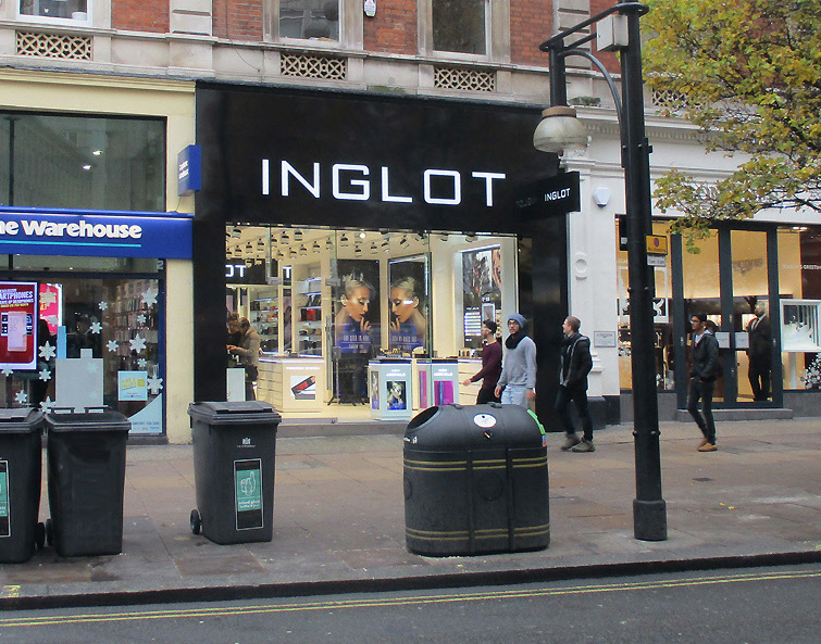 Inglot make-up shop on London's Oxford Street