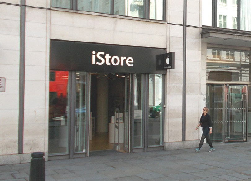 iStore Apple computer shop in London's Covent Garden