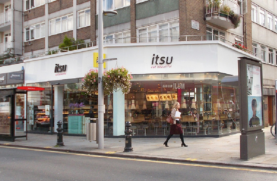 Itsu sushi bar on King's Road in Chelsea