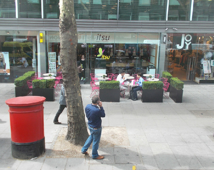Itsu sushi restaurant on London's Tottenham Court Road