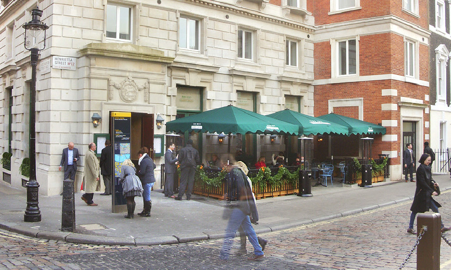 The Ivy Market Grill near London's Covent Garden Market