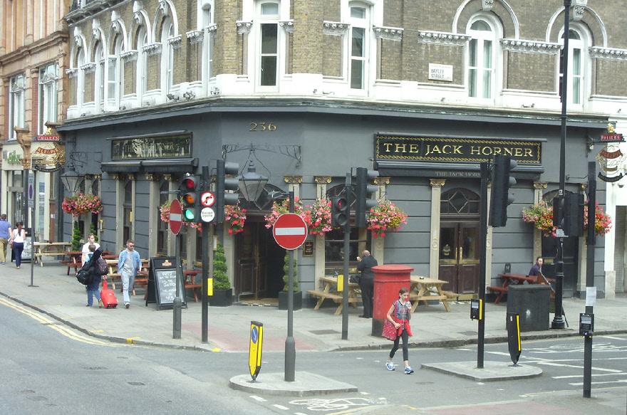 The Jack Horner pub on London's Tottenham Court Road