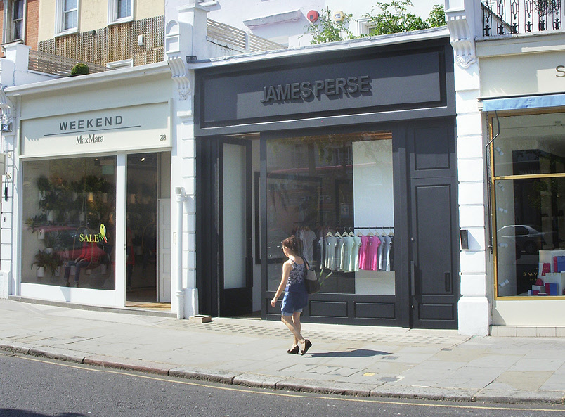 James Perse shop in London's Notting Hill