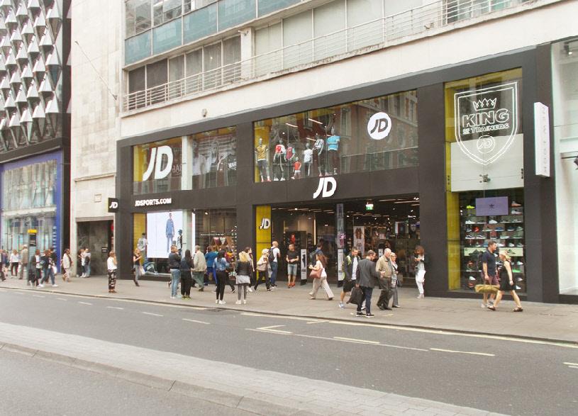 JD sportswear store on London's Oxford Street