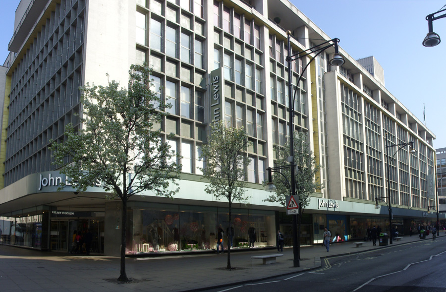 John Lewis department store in London, near Oxford Circus