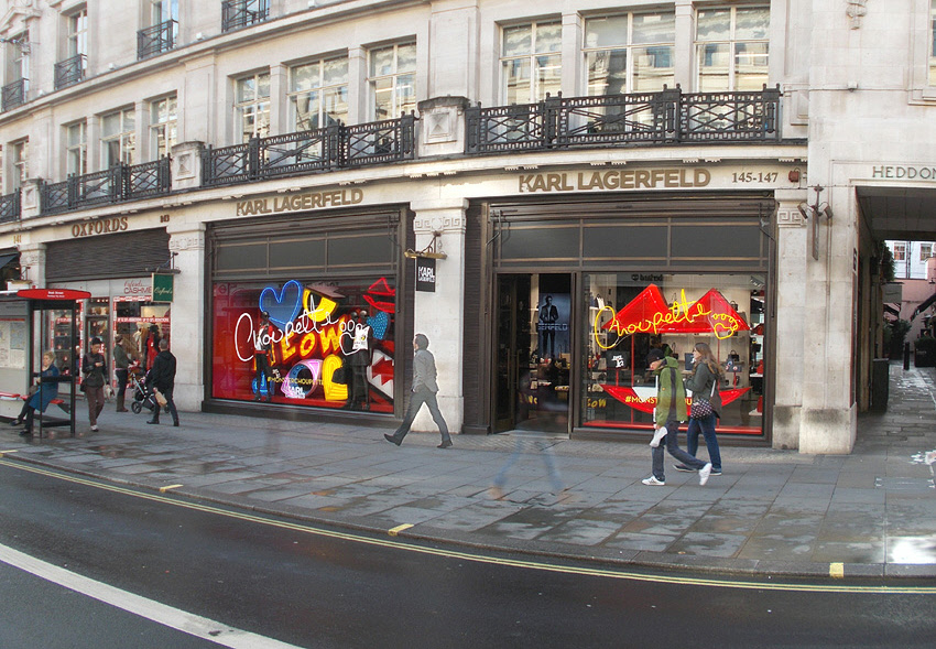 Karl Largerfeld shop on London's Regent Street