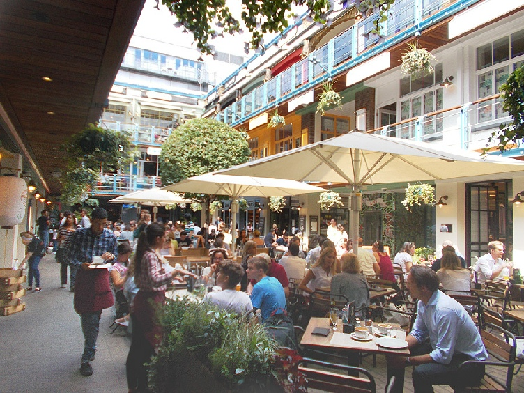 Kingly Court in London's Carnaby