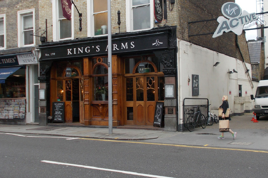 The King's Arms pub in London's Chelsea