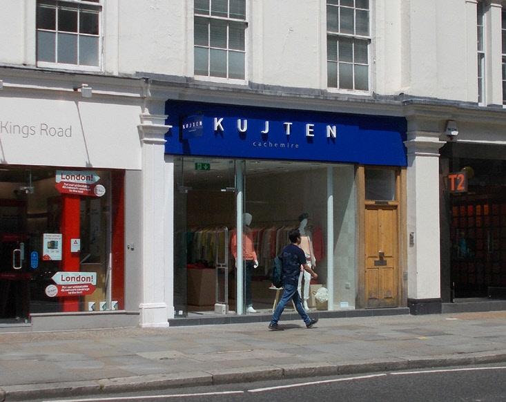 T2 tea shop on King's Road in London's Chelsea