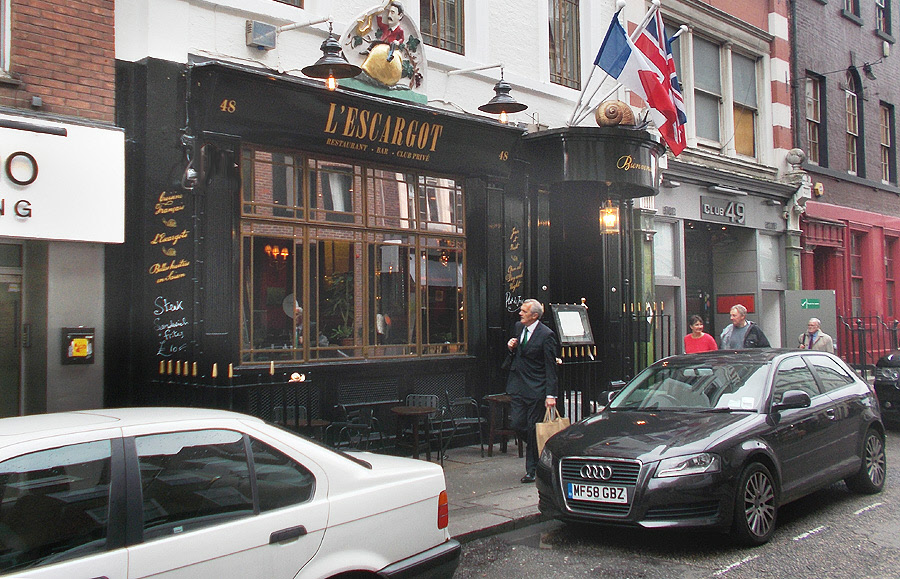L'Escargot restaurant in London's Soho