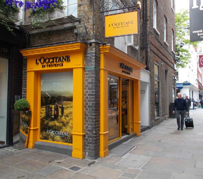 L'Occitane cosmetics shop in London's Marylebone