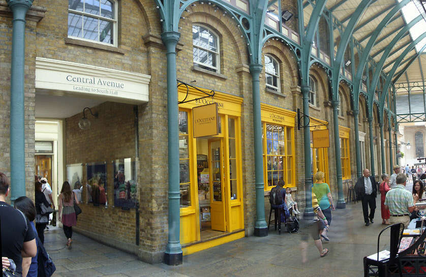L'Occitane soap and fragrance shop in London's Covent Garden