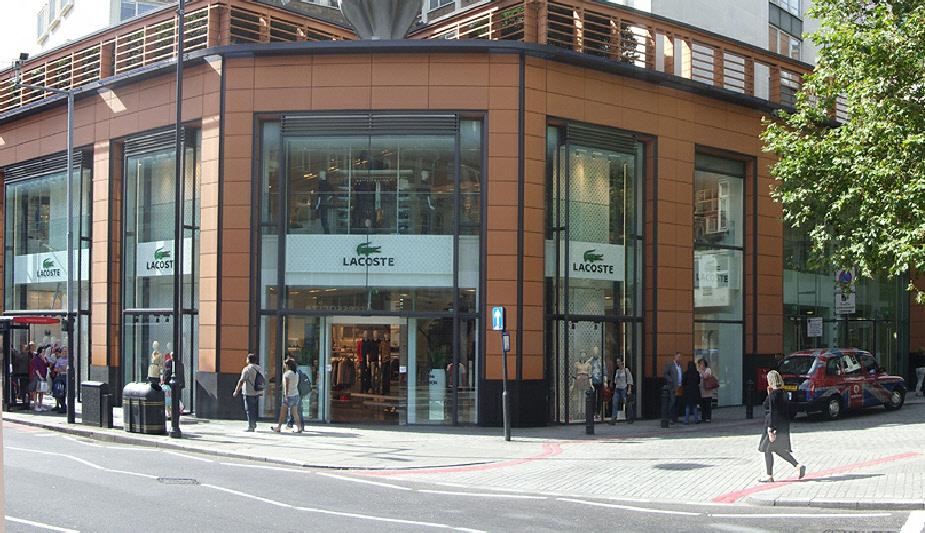 Lacoste store in London's Knightsbridge