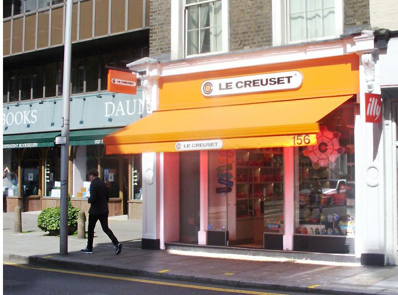 Le Creuset cookware shop in London's Chelsea