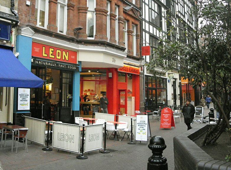 Leon Cafe in  London's Carnaby