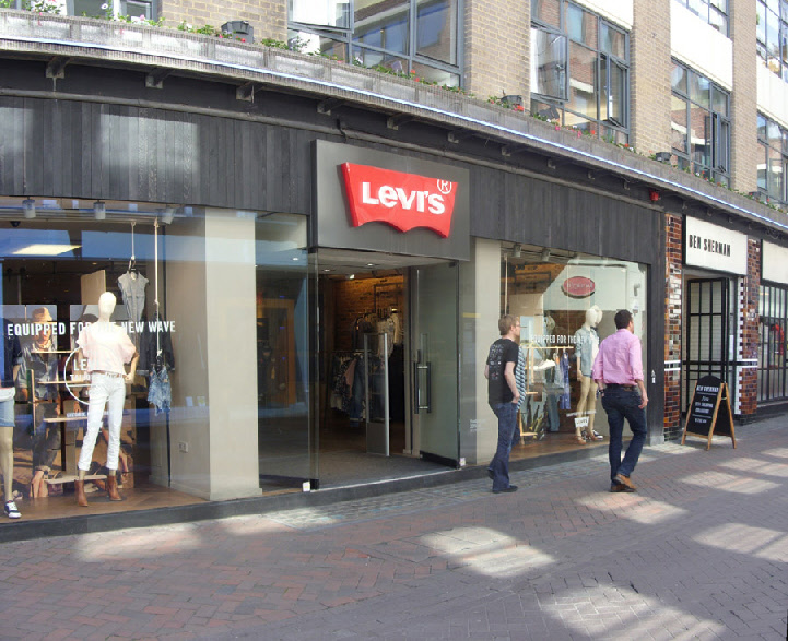Levis jeans store in London's Soho