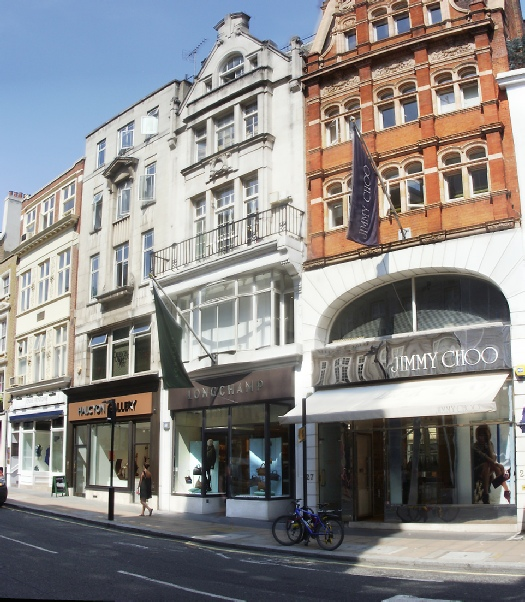Longchamp handbag shop in London's Mayfair